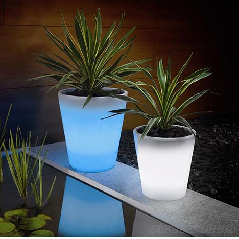 glowing plant pot