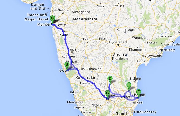 Chennai to Mumbai