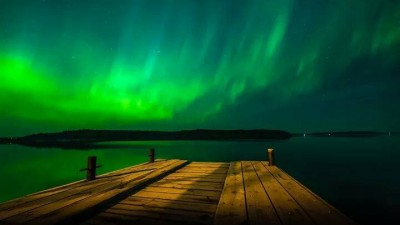 Aurora deasupra Insulelor Faroe