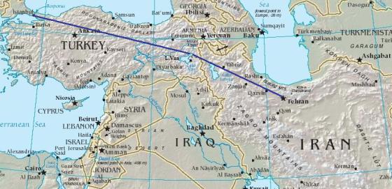 Istanbul to Tehran