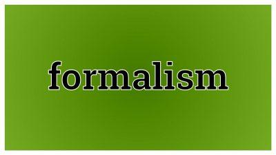 Formalismul din învăţământ